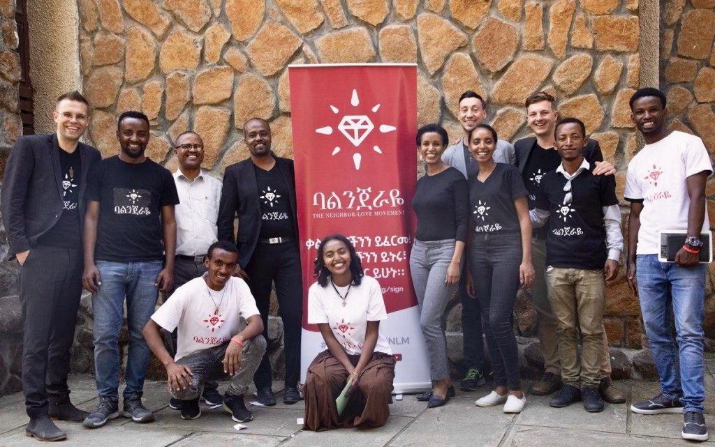 Balinjeraye team, partners, and volunteers at the University of Gondar.